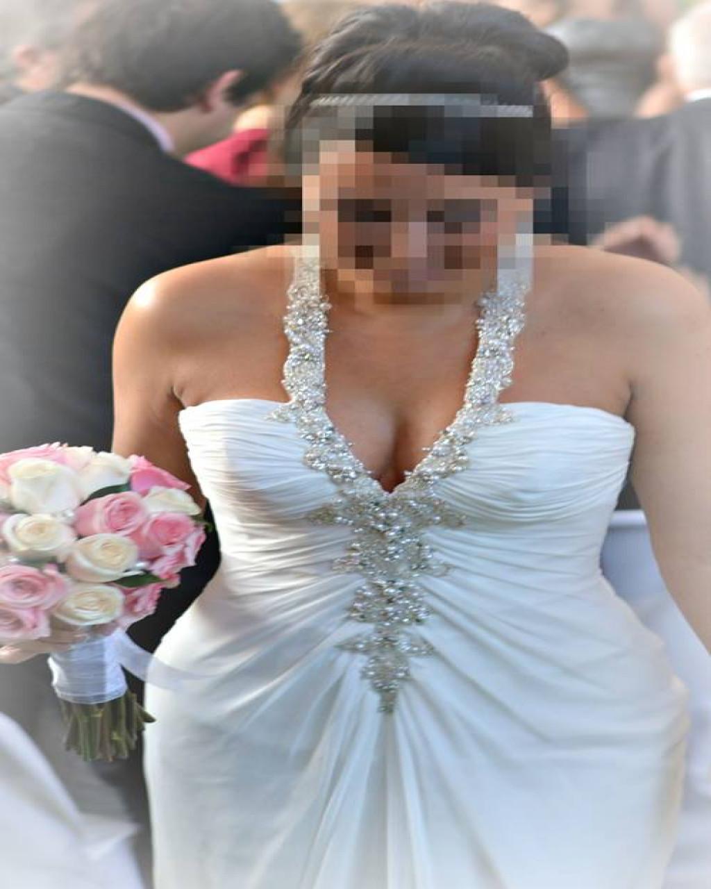 Vestido novia económico hecho por Maggie Sottero, usado impecable ...