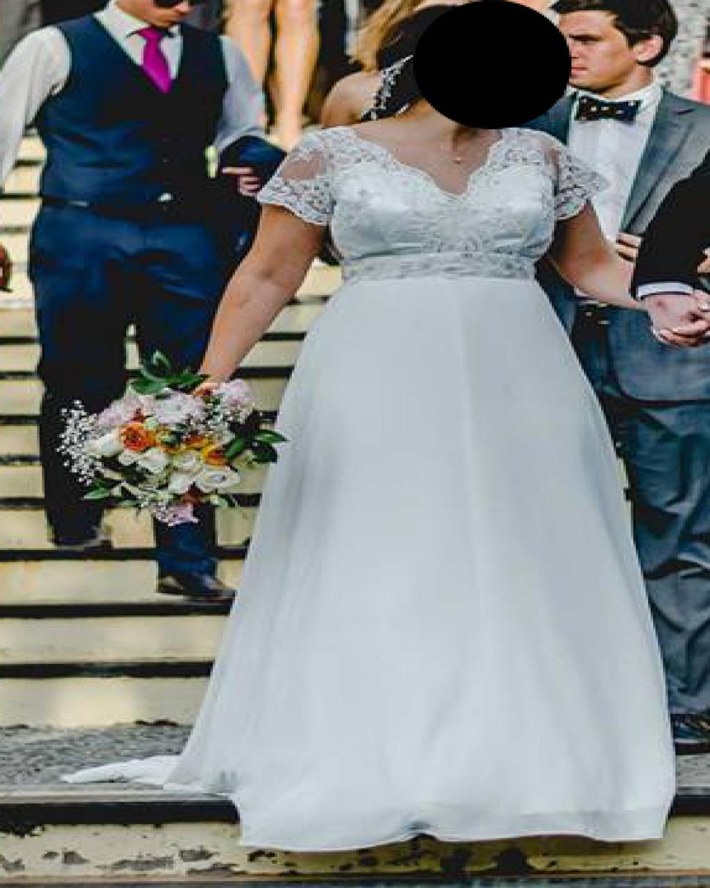 Vestido de novia moderno usado, confeccionado por Santo Encanto | Mi ...