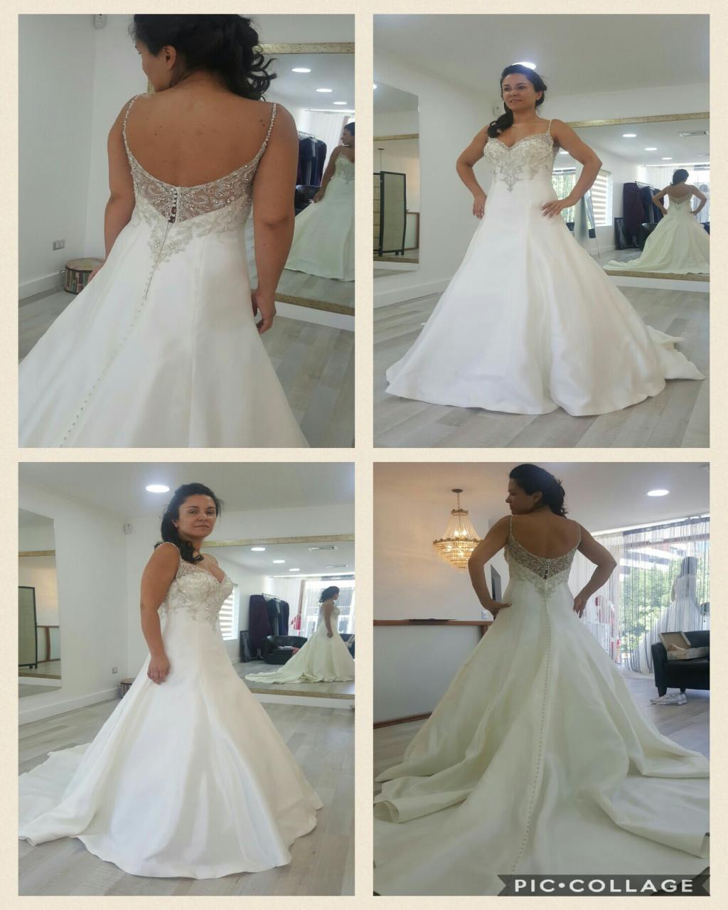 Vestido de moda de novia diseñado por Maggie Sottero usado una vez ...