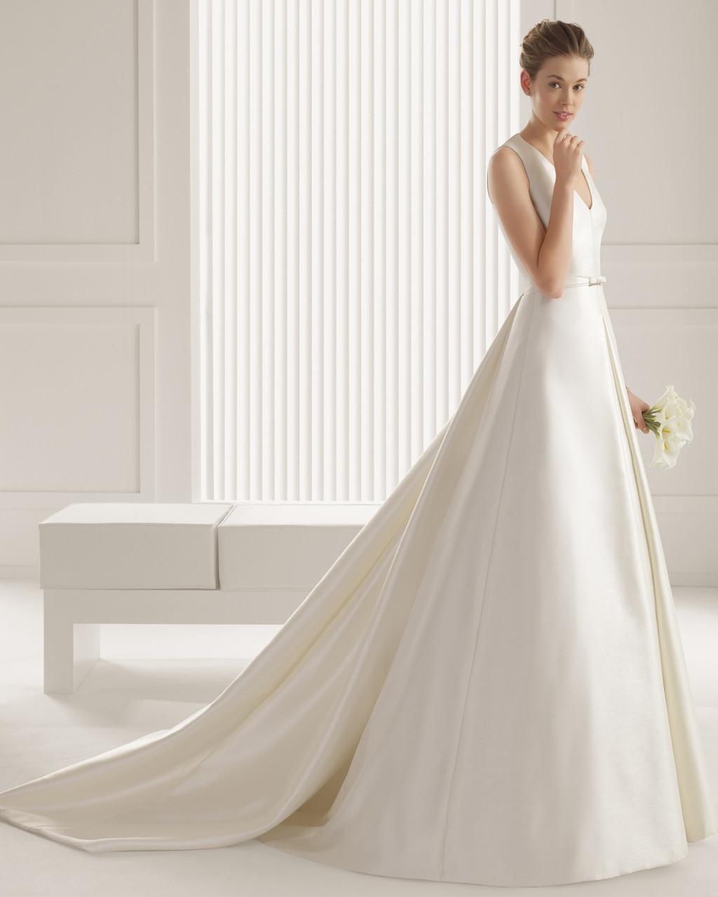 Vestido de novia elegante diseñado por Rosa Clará usado una vez | Mi ...