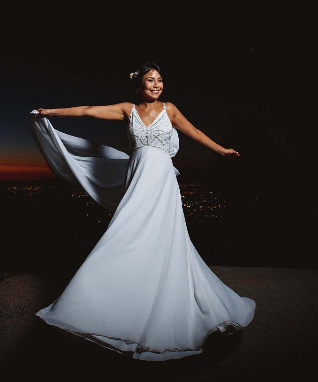 Vestido novia semi sirena